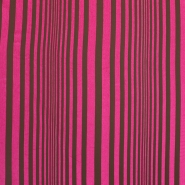 Deco cotton, stripes, 15285-02, brown fuschia