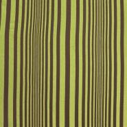 Deko bombaž, črte, 15285-04, rjava zelena