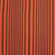 Deco cotton, stripes, 15285-06, brown orange