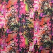 Tkanina, tanjša, inkjet tisk, abstrakten, 14977-3