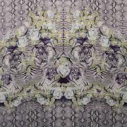 Tkanina, tanjša, inkjet tisk, tiger, 14977-4