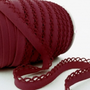 Bias tape, cotton, folded,  00318-4, burgundy