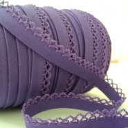 Bias tape, cotton, folded, 00318-067, purple