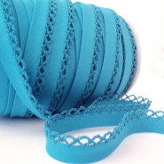 Bias tape, cotton, folded, 00318-082, turquoise