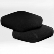 Elbow patches, chamois, 2 pcs, 00471-19, black