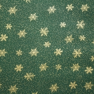 Cotton, poplin, snowflakes, 12607-04
