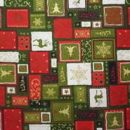 Cotton, poplin, Christmas, 10919-07