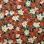 Cotton, poplin, poinsettia, 13653-02