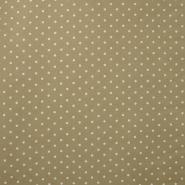 Dekostoff, Druck, Punkte, 15411-18, beige