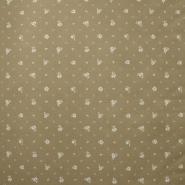 Deco, print, flowers, 15413-18, beige