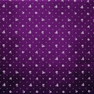Deco, print, purple dots, 15412-28