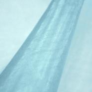 Organdi,  poliester, 13903-4, svijetlo plava