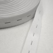 Elastikband mit Löchern, 21mm, weiß