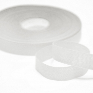 Cotton ribbon, 15mm, 15455-1, white