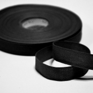 Cotton ribbon, 15mm, 15455-2, black