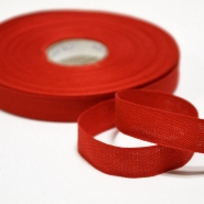 Cotton ribbon, 15mm, 15455-6230, red