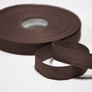 Cotton ribbon, 15mm, 15455-6103, brown