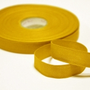 Cotton ribbon, 15mm, 15455-6030, yellow