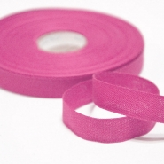 Cotton ribbon, 15mm, 15455-6312, pink