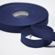 Cotton ribbon, 15mm, 15455-6158, blue
