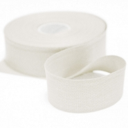 Cotton ribbon, 30mm, 15456-1, white