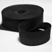 Cotton ribbon, 30mm, 15456-2, black