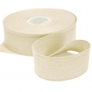 Cotton ribbon, 30mm, 15456-6002, natur