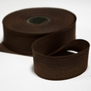 Cotton ribbon, 30mm, 15456-6103, brown