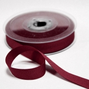 Rep ribbon, 15mm, 15457-451, burgundy