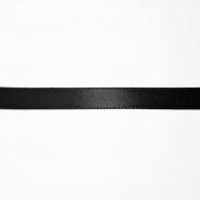 Satin ribbon, 10mm, 15458-2, black
