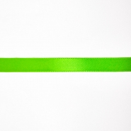 Satin ribbon, 10mm, 15458-2002, fluo green