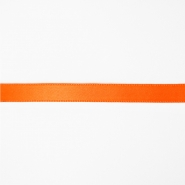 Satin ribbon, 10mm, 15458-2003, fluo orange