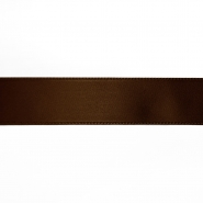 Satin ribbon, 25mm, 15460-1103, brown - Bema Fabrics