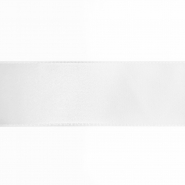 Satin ribbon,  40mm, 15461-1, white