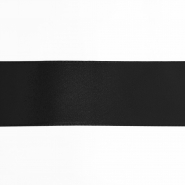 Satin ribbon, 40mm, 15461-2, black