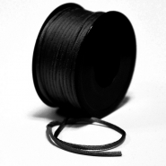 Schnur, Viskose, 3mm, 15462-2, schwarz