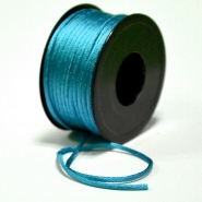 Cord, viscose,  3mm, 15462-3027, turquoise