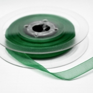 Organza ribbon, 10mm, 15465-1263, green
