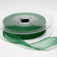 Organza ribbon, 15mm, 15466-1263, green