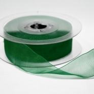 Organza ribbon, 25mm, 15467-1263, green