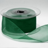 Organza ribbon, 40mm, 15468-1263, green