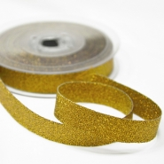 Lame ribbon,15mm, 15472-1, gold