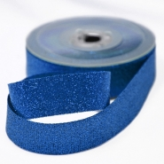 Lame ribbon, 25mm, 15476-5, blue