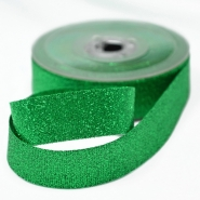 Lame ribbon, 25mm, 15476-4, green