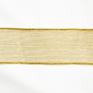 Lame trim, translucent, 25mm, 15478-1, gold