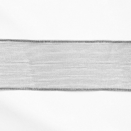 Lame trim, translucent, 25mm, 15478-2, silver