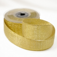 Lame ribbon, 40mm, 15482-1, gold