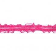 Elastikband mit Spitze, 5356-3, pink