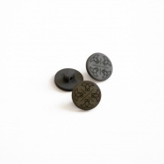 Button, for suits, grey, 15435-3C