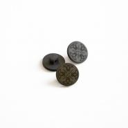 Gumb, kostimski, siva, 15435-3C